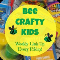 Bee Crafty Kids Button