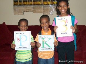 First Day of School Picture Day: Look! We're Learning!